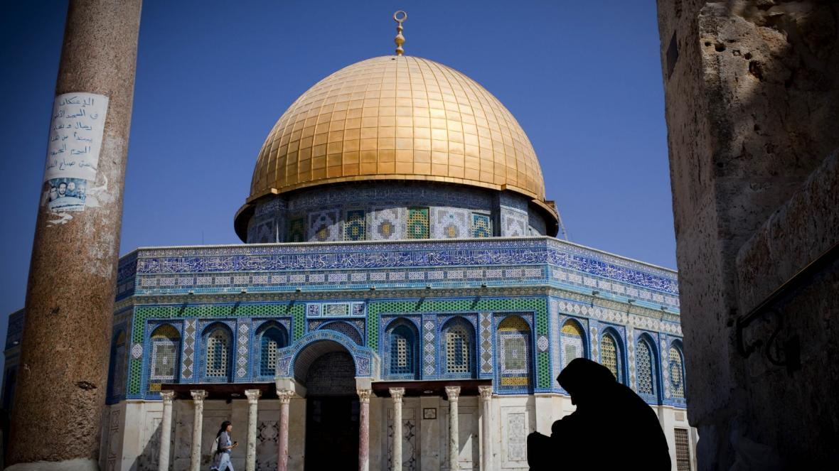 Mešita Al-Aksá na Chrámové hoře v Jeruzalémě
