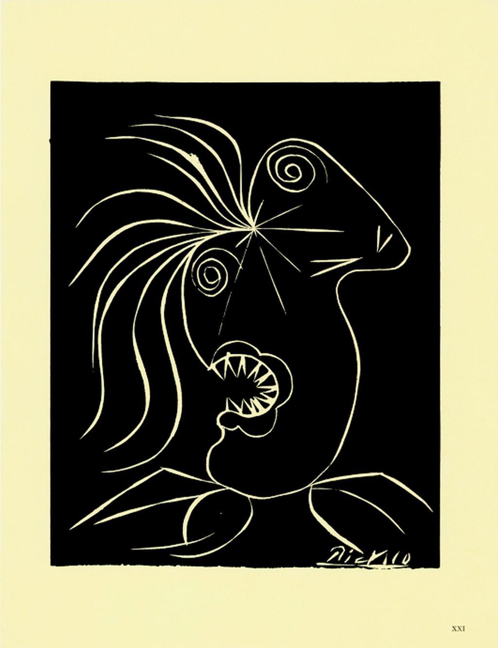 Pablo Picasso / list z alba Pour la Tchécoslovaquie, Hommage à un pays martyr, 1939