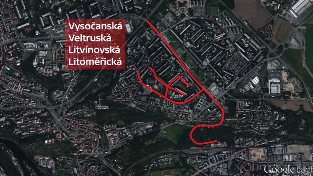 Ulice pražského Proseku zasažené bakterií legionella