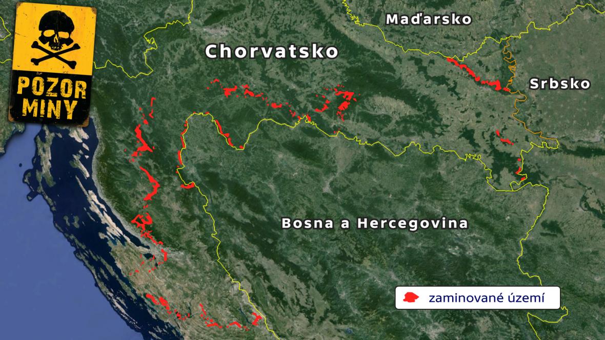 Zaminované uzemí Chorvatska