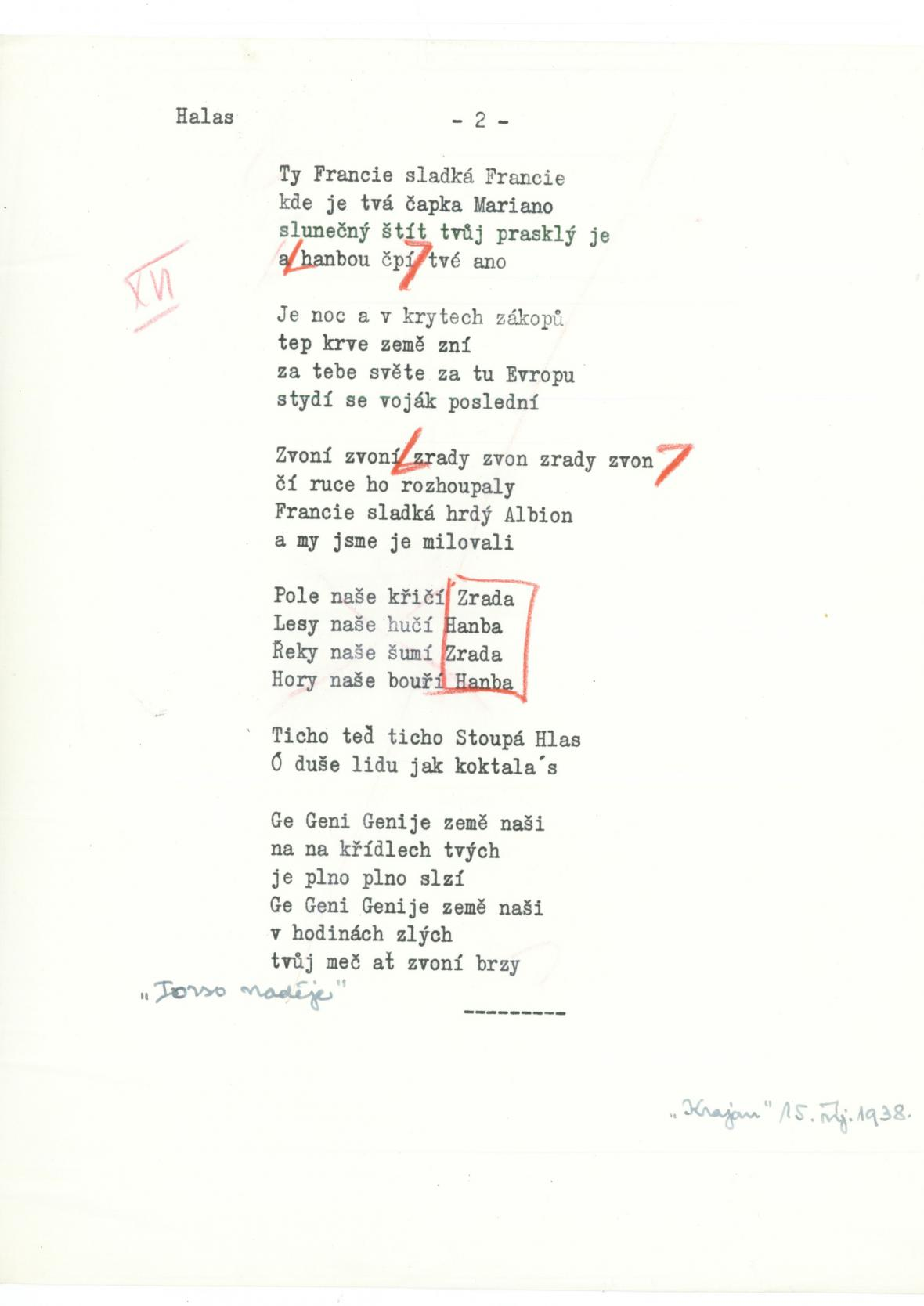 Cenzurovaná báseň Františka Halase