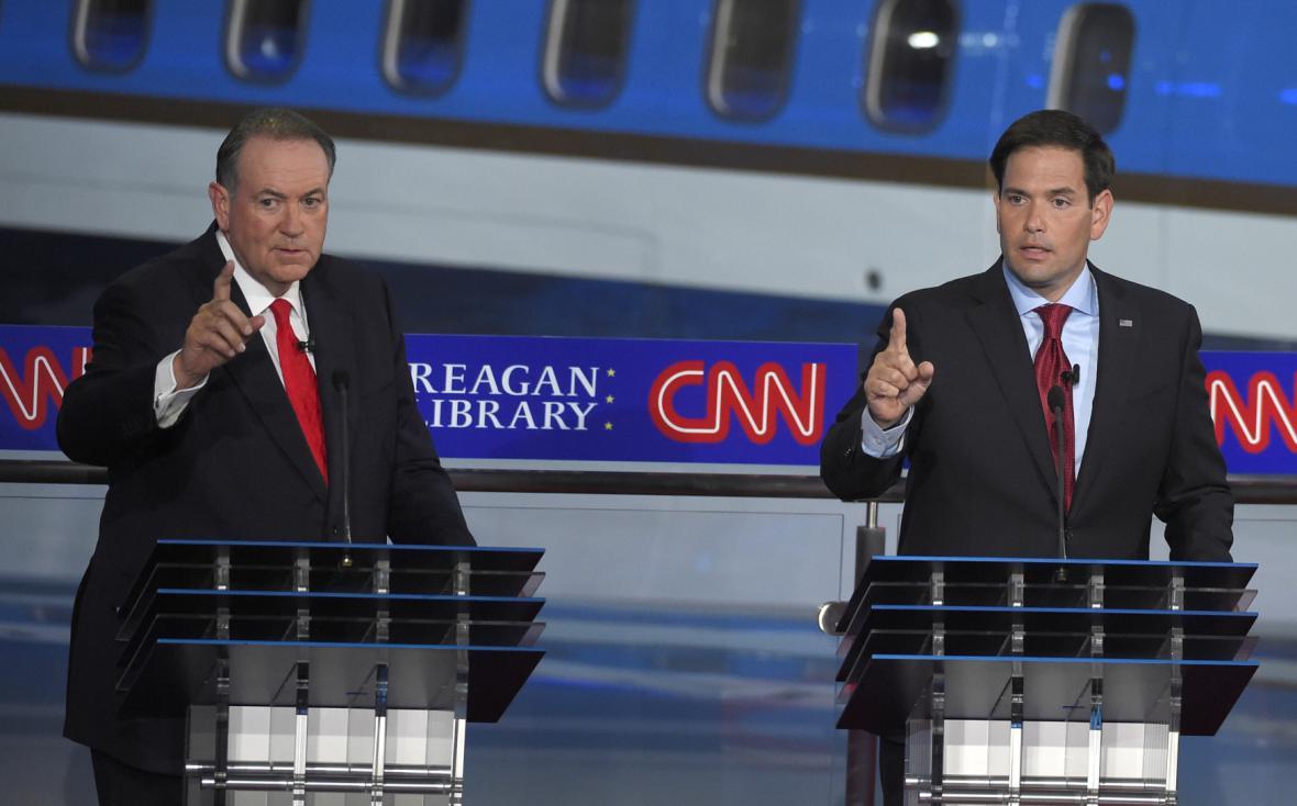 Mike Huckabee a Marco Rubio
