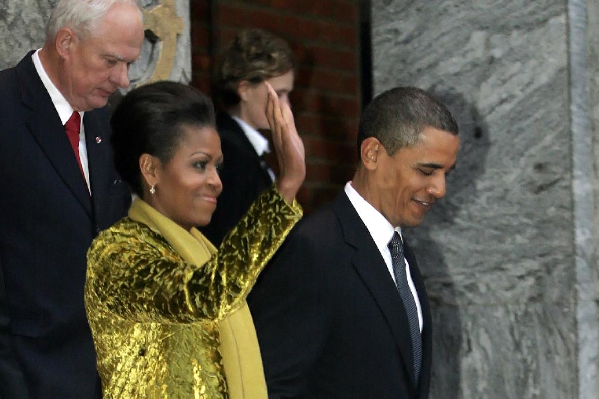Geir Lundestad, Michelle Obamová a Barack Obama