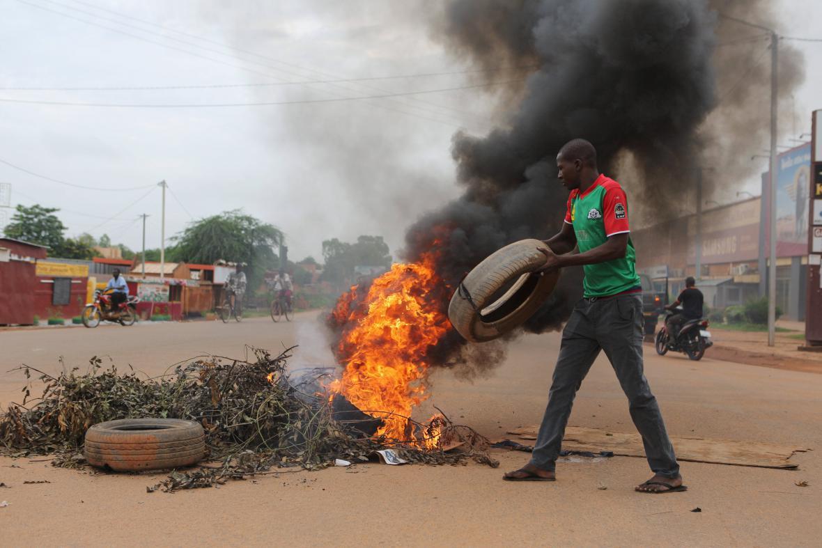 Pouliční protesty v Ouagadougou