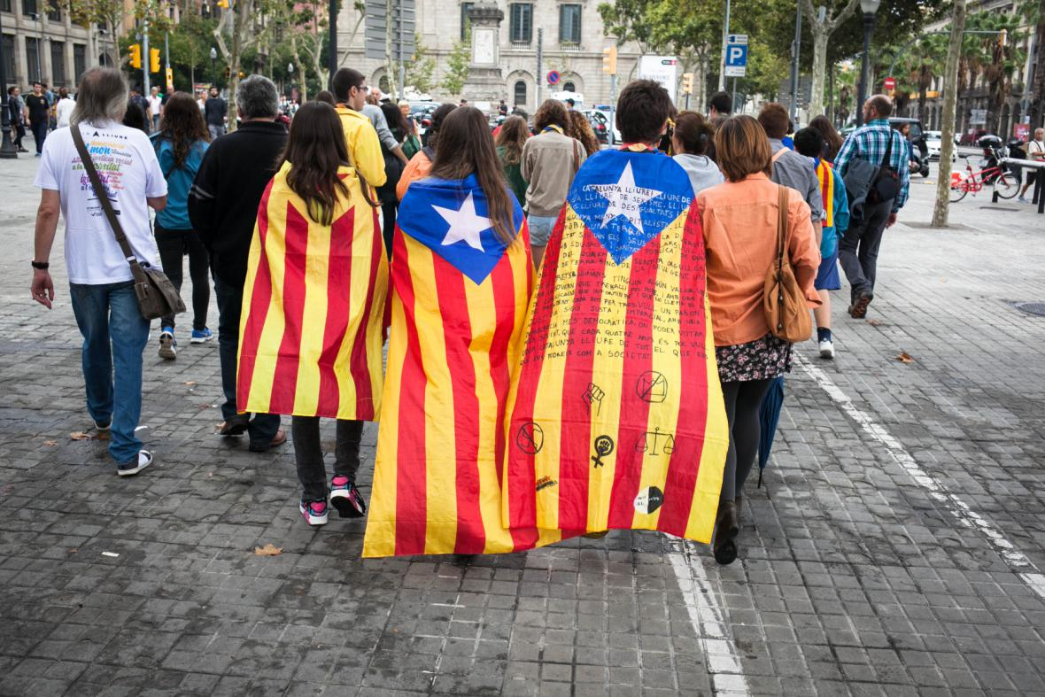 Demonstrace za samostatné Katalánsko