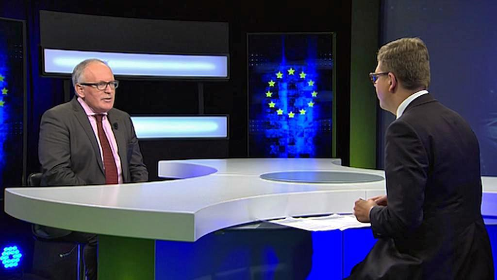 Frans Timmermans v rozhovoru pro ČT