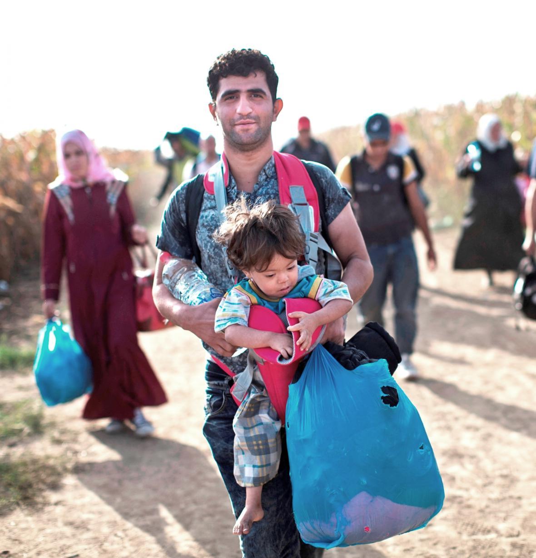 Migranti na chorvatsko-srbském pomezí