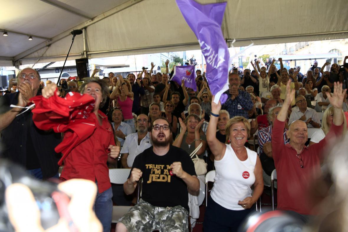 Příznivci Syrizy