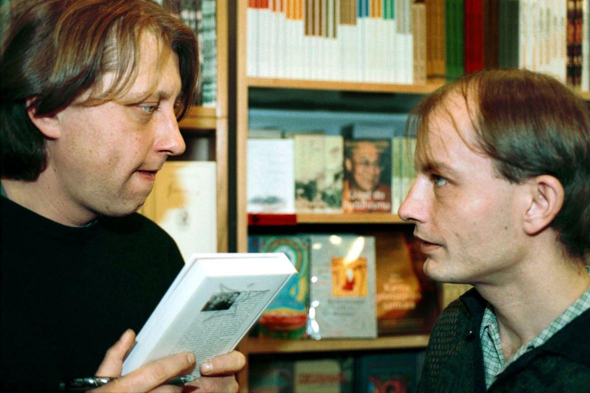 Filip (vpravo) a Jáchym Topolovi, 2000
