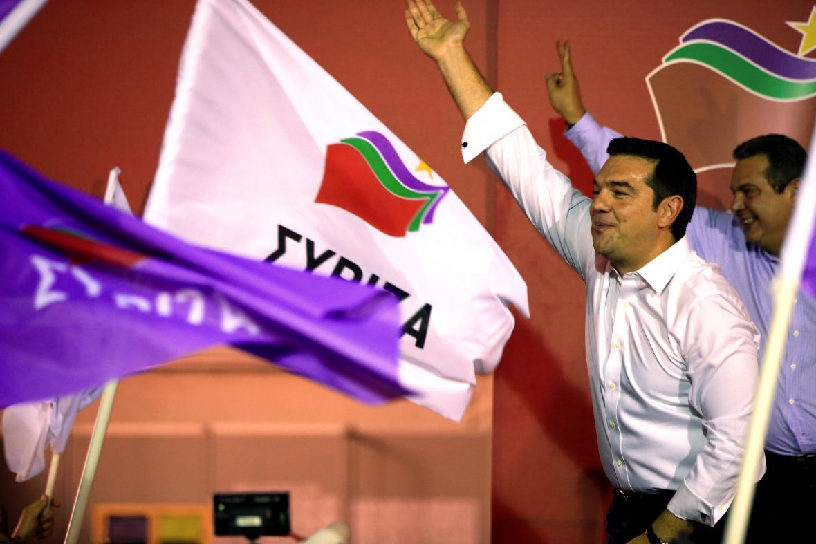 Alexis Tsipras oslavuje vítězství Syrizy