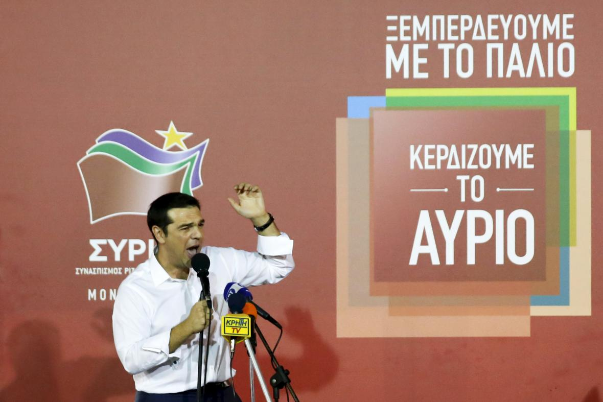 Alexis Tsipras a Syriza slaví volební vítězství