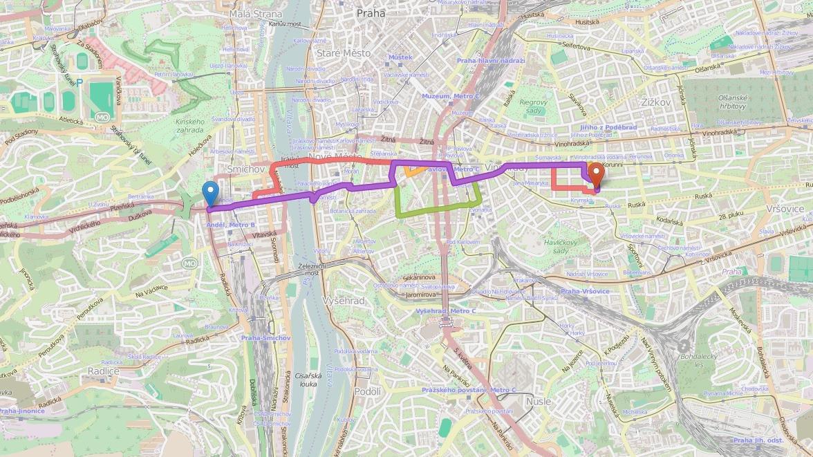 Návrhy tras v Cykloplánovači
