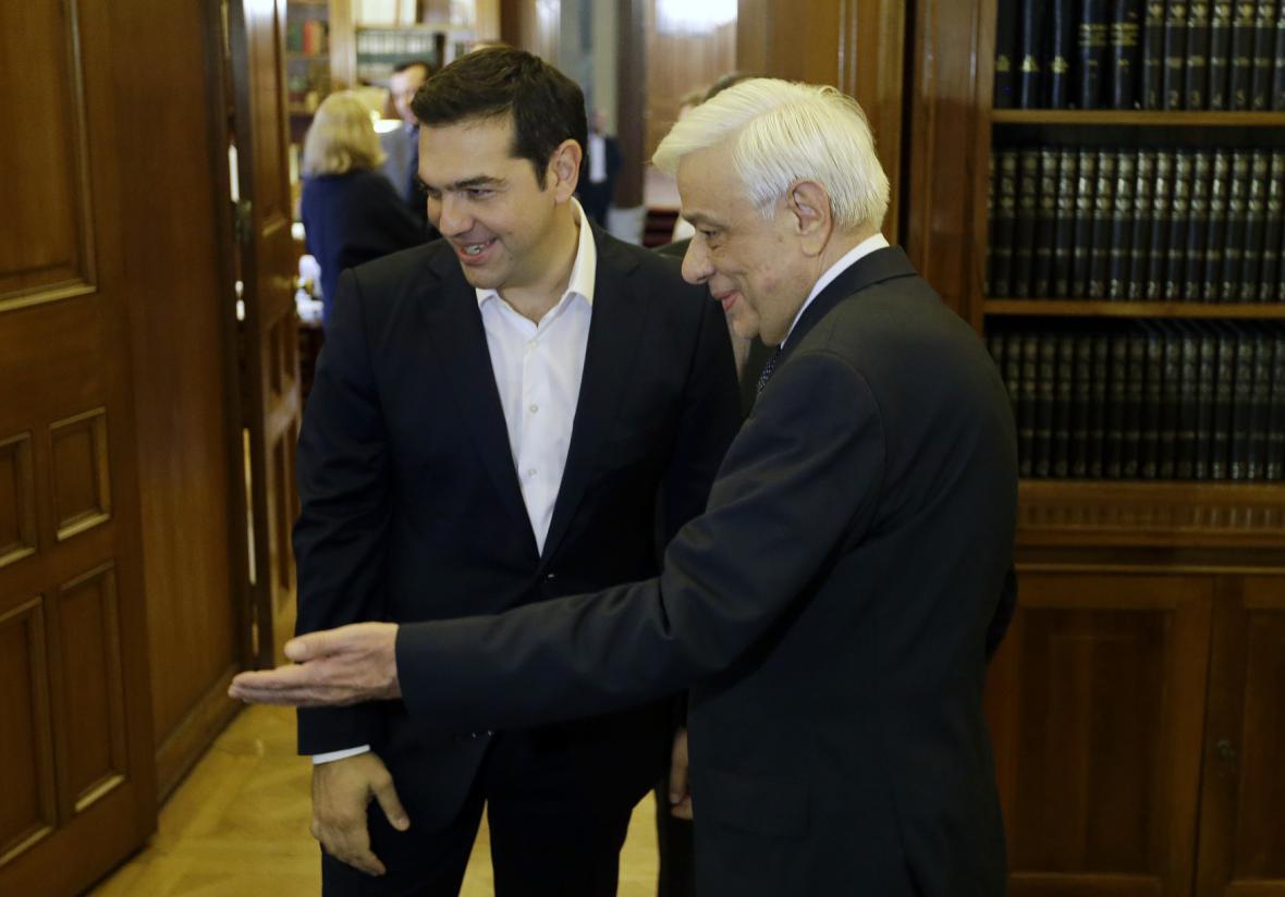 Tsipras s řeckým prezidentem Pavlopulosem