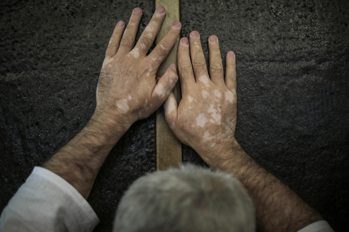 Obcházení posvátného kamene Kaba