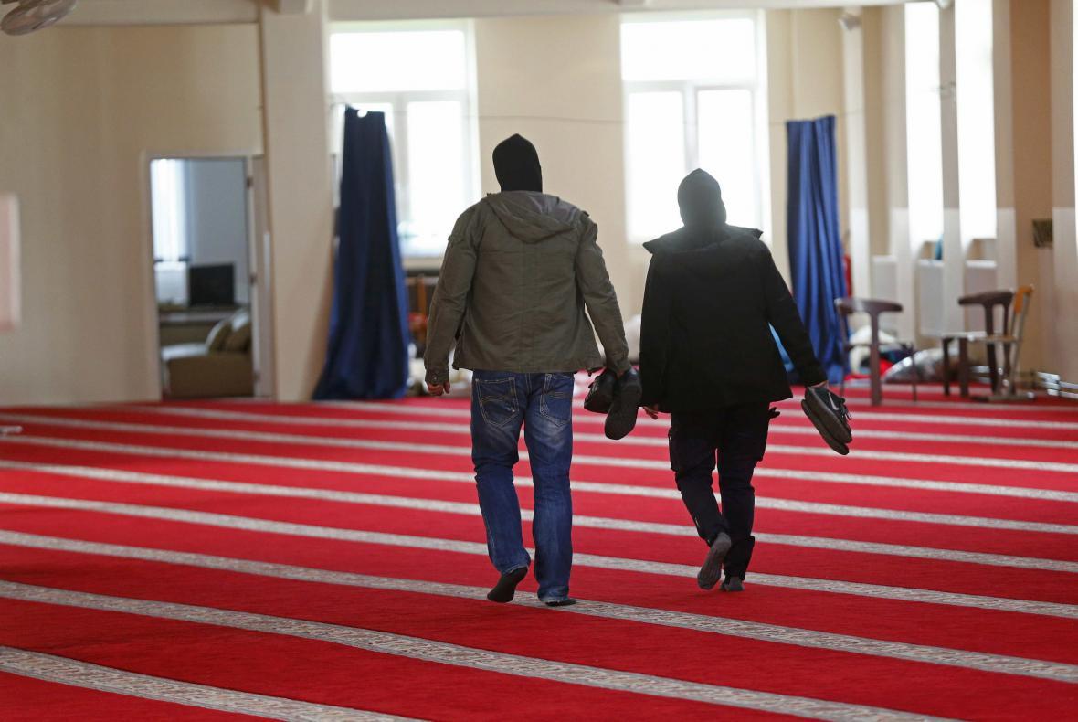 Policie v mešitě v berlínské čtvrti Tempelhof