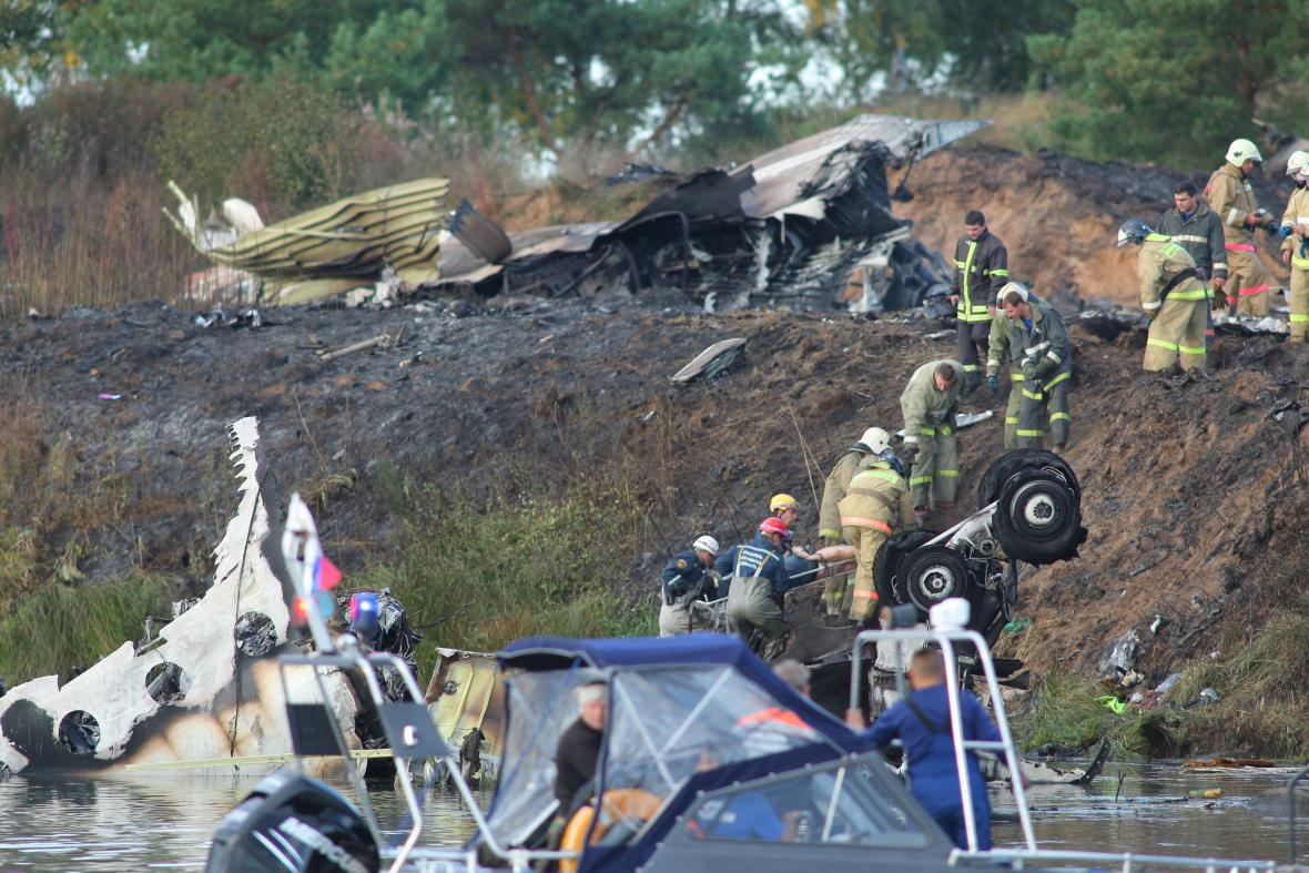 Nehoda letadla s týmem Jaroslavle