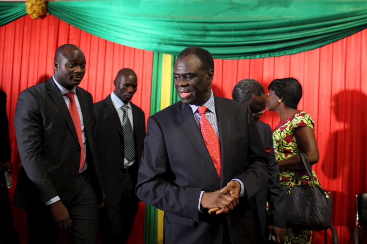 Prozatímní prezident Burkiny Faso Michel Kafando