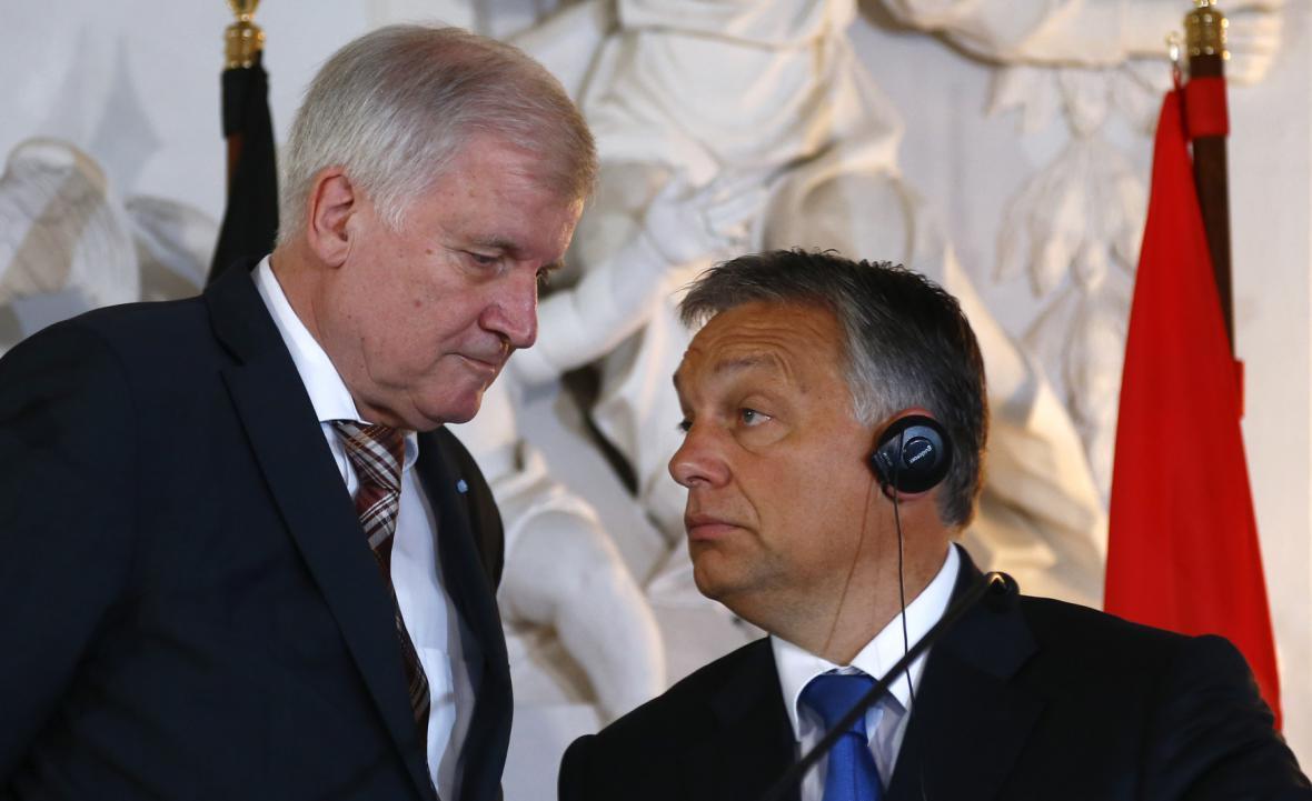 Horst Seehofer a Viktor Orbán