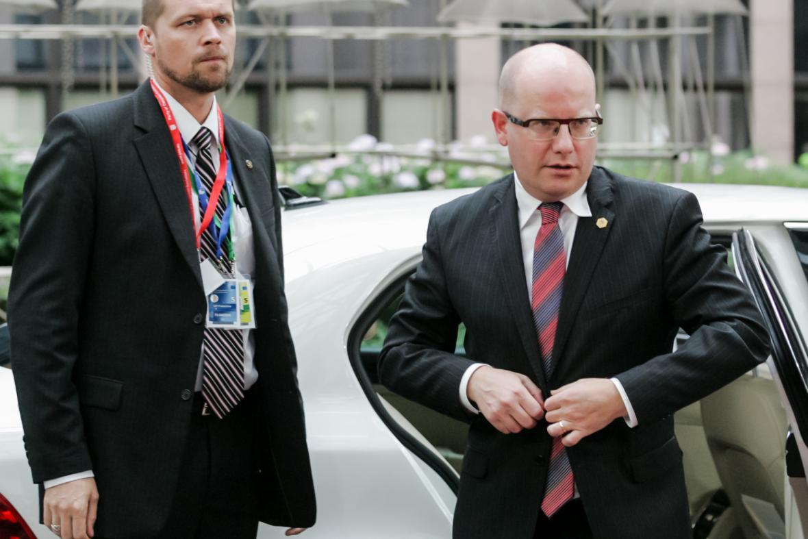 Bohuslav Sobotka na summitu EU