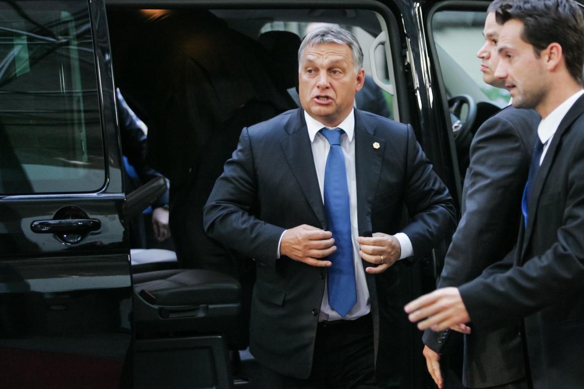 Viktor Orbán na summitu EU