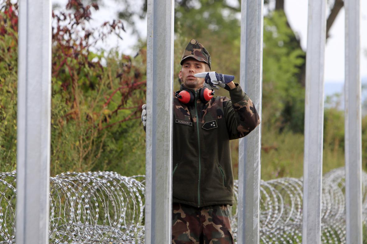 Plot na maďarsko-chorvatské hranici