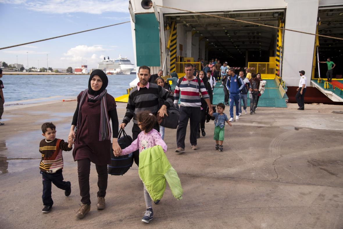 Uprchlíci v Řecku