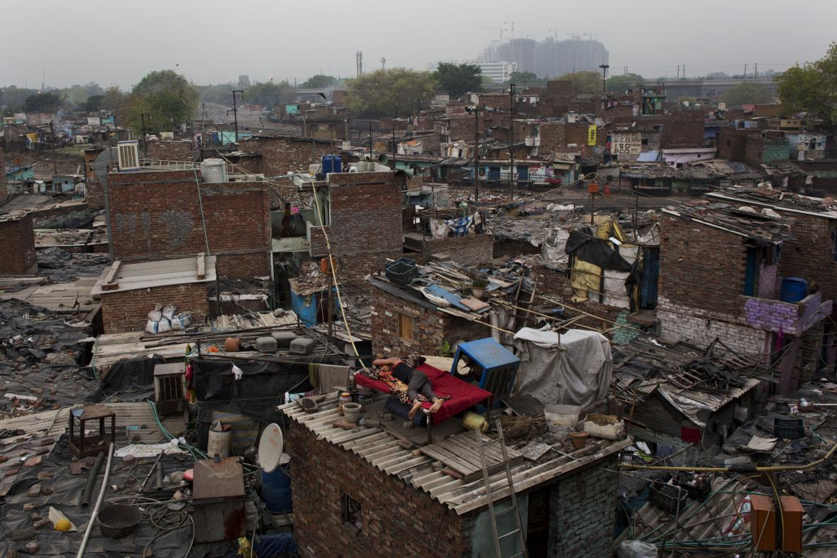 Indický slum