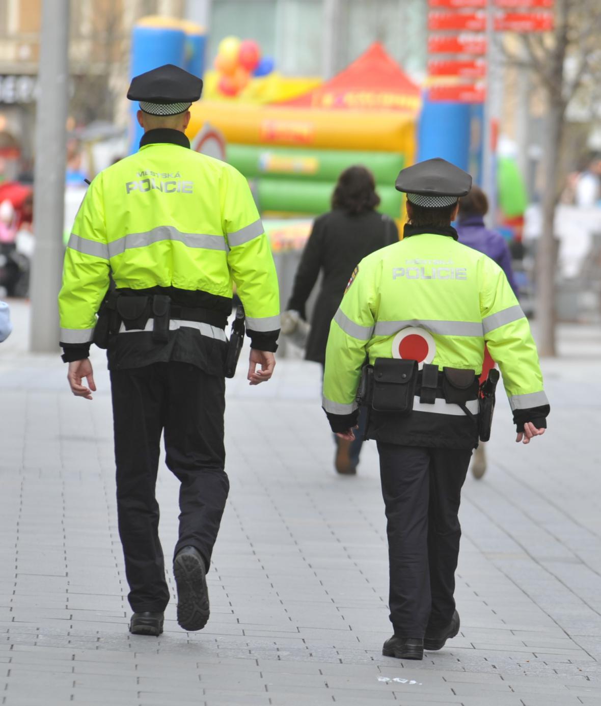 Strážníci v Brně
