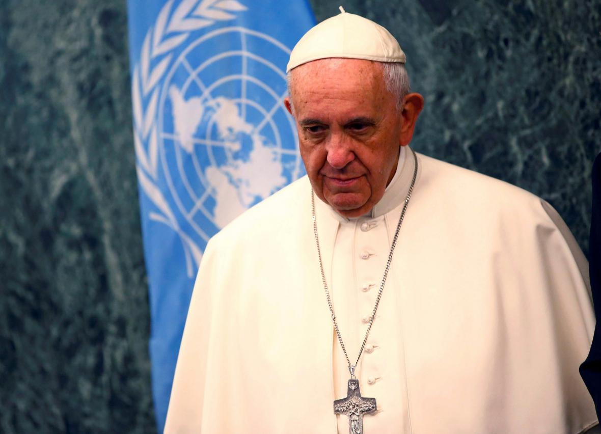 Papež František v sídle OSN