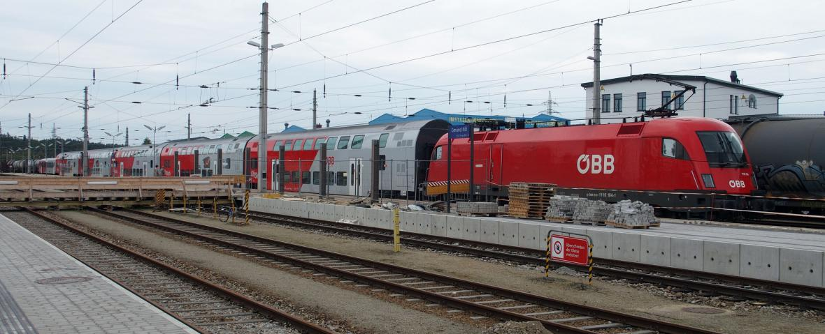 Vlak v Gmündu