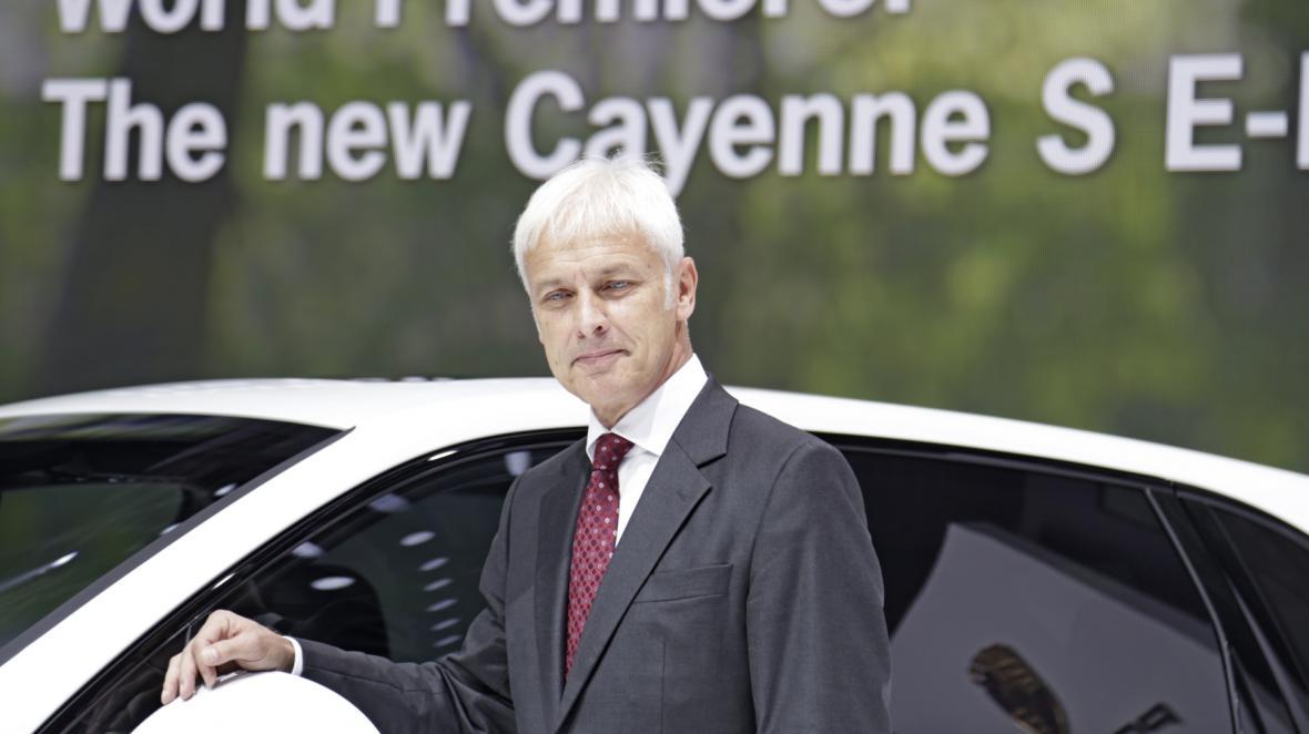 Šéf VW Group Matthias Müller