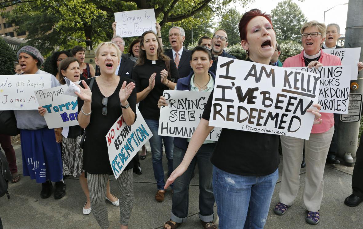 Protesty proti popravě Gissendanerové