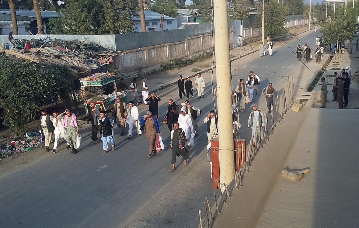 Vězni propuštění po obsazení Kunduzu Talibanem