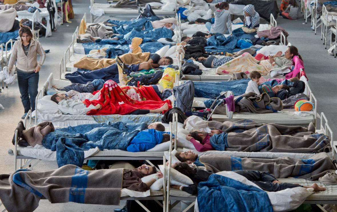 Uprchlíci ve středoněmeckém Hanau