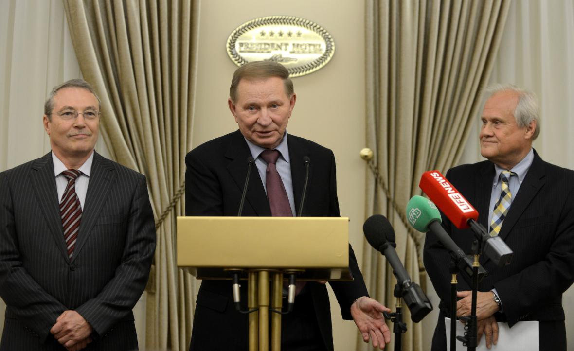 Tisková konference po jednání kontaktní skupiny k ukrajinské krizi