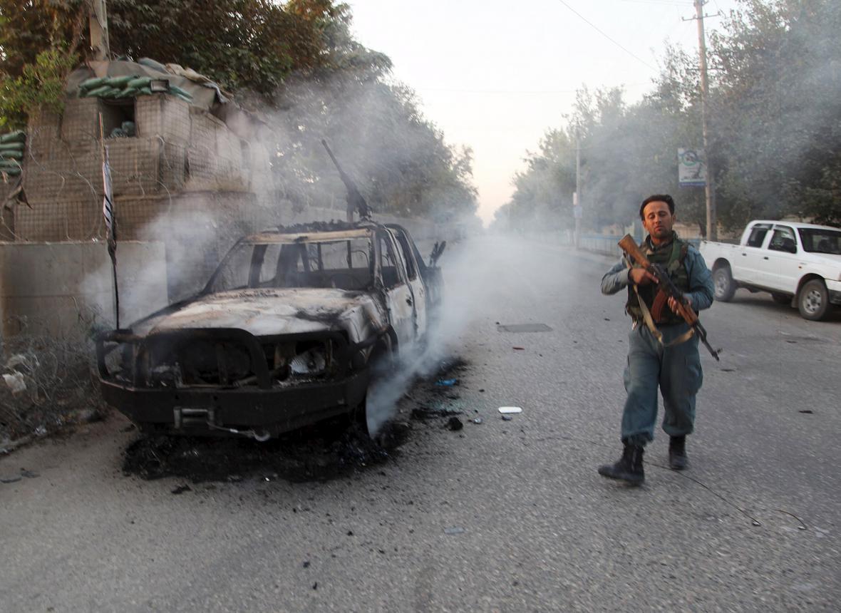 Boje s Talibanem v Kunduzu