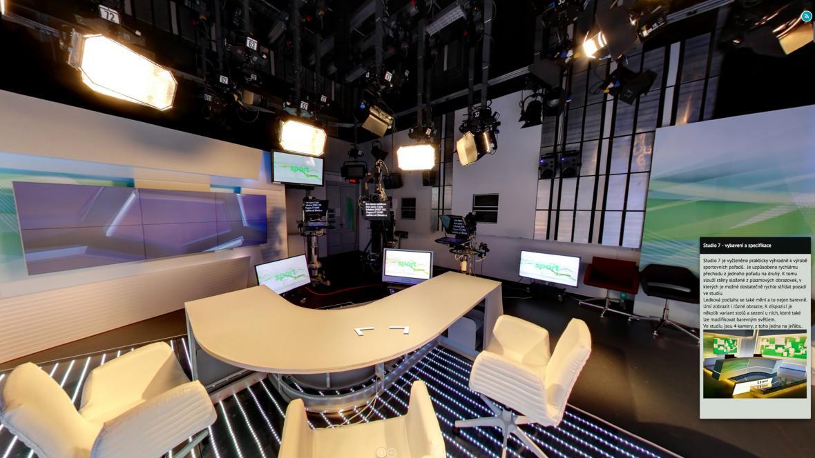 Virtuální prohlídka Českou televizí