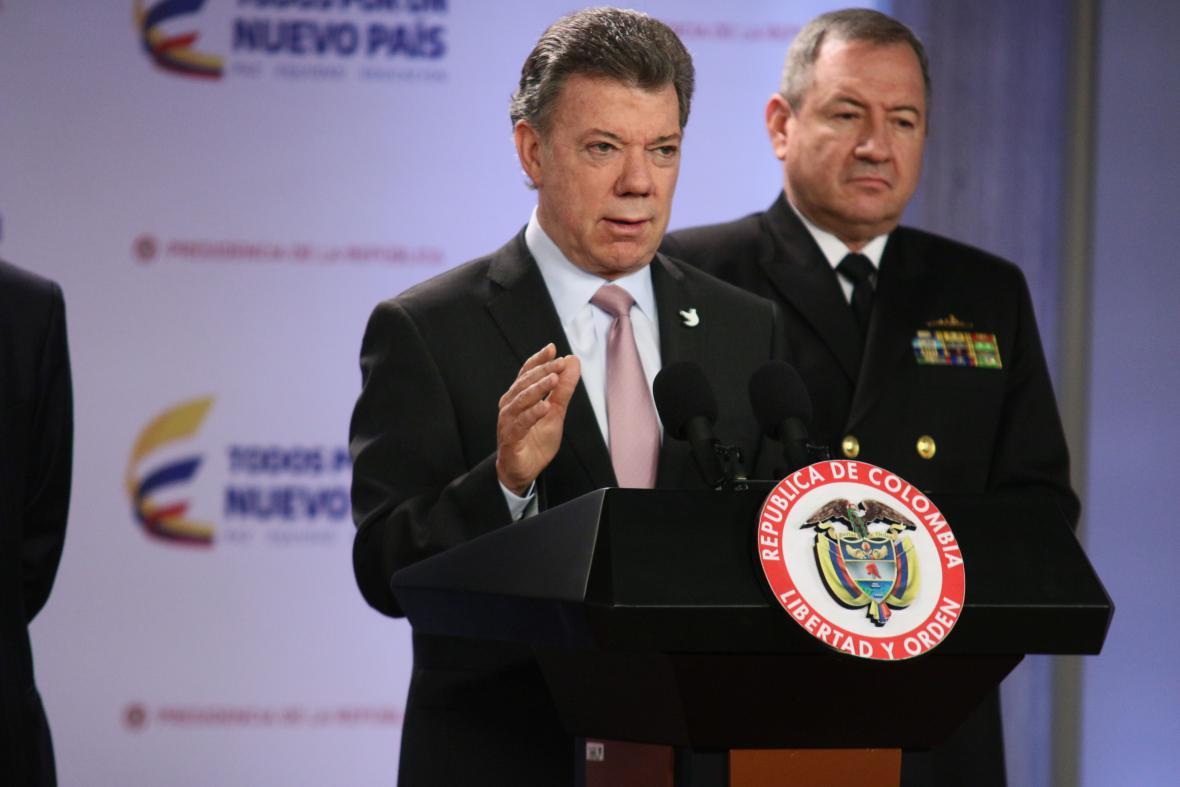 "Zabili jsme ""Megatea"", hlásí kolumbijský prezident Juan Manuel Santos"