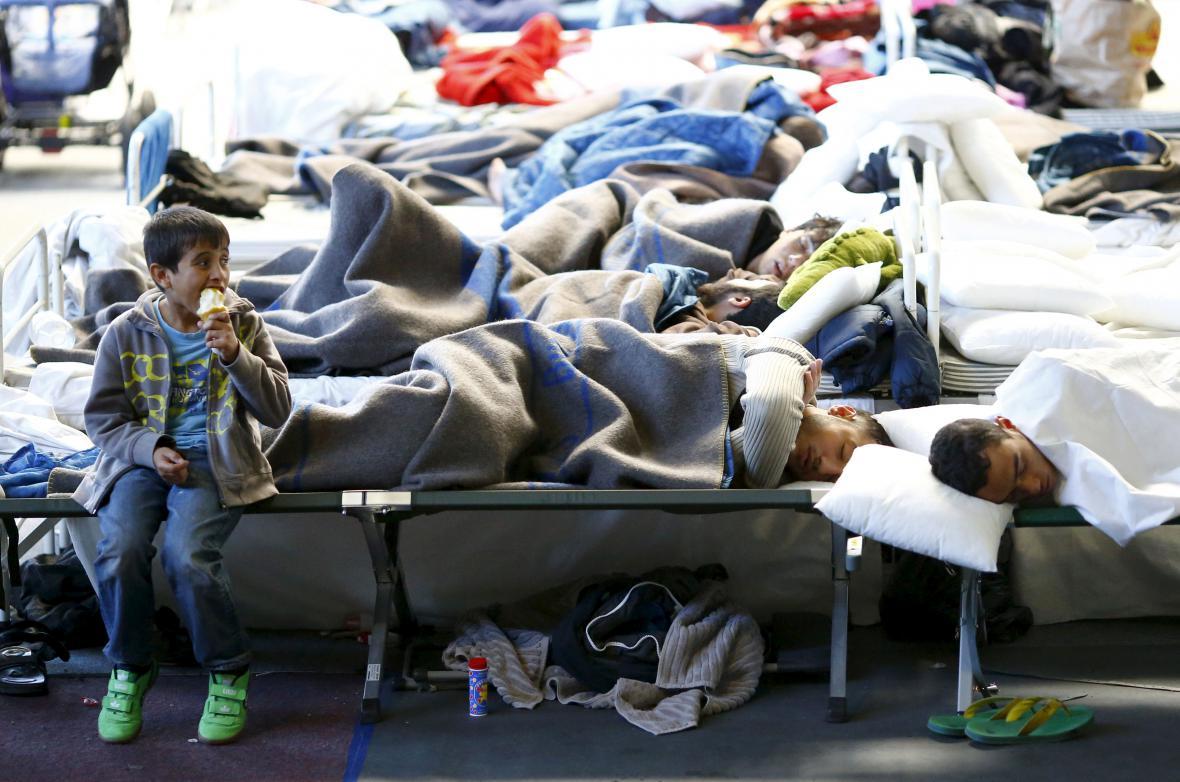 Migranti v ubytovně v hesenském Hanau