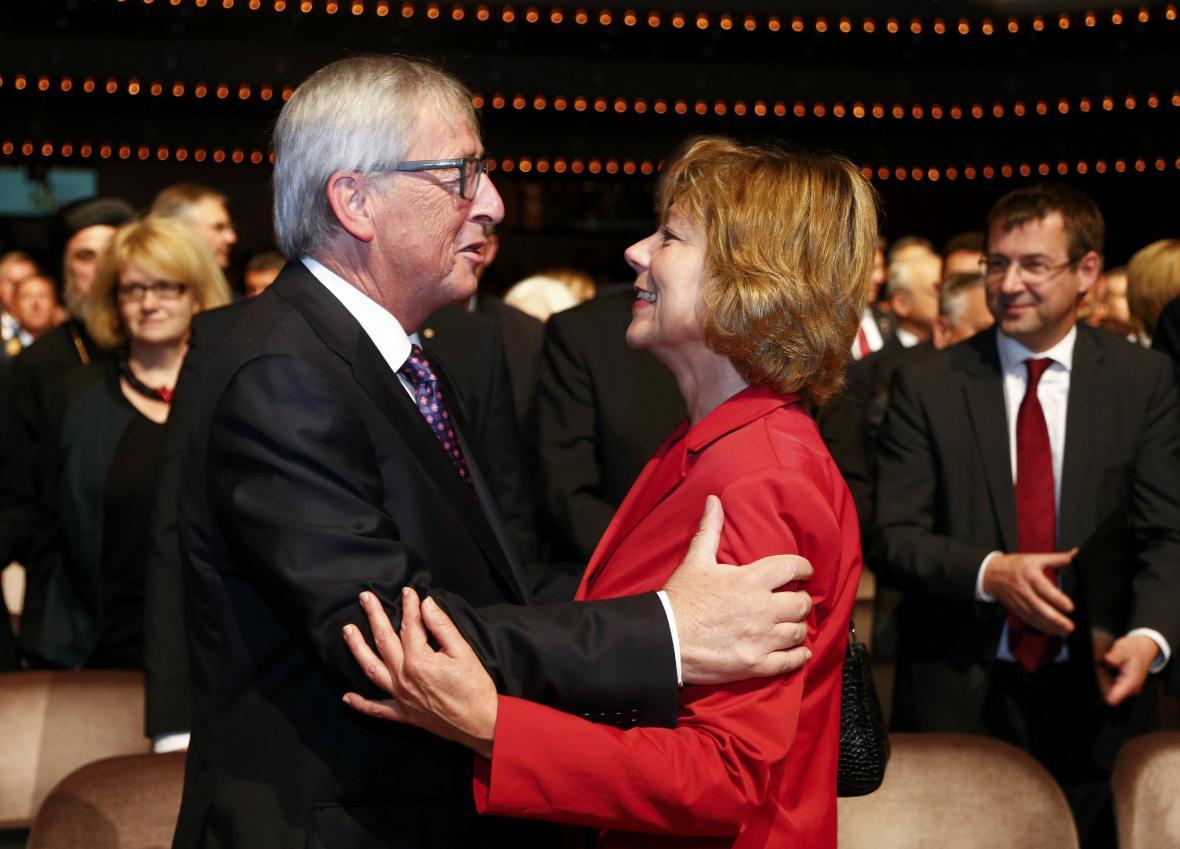Jean-Claude Juncker na oslavách v Německu