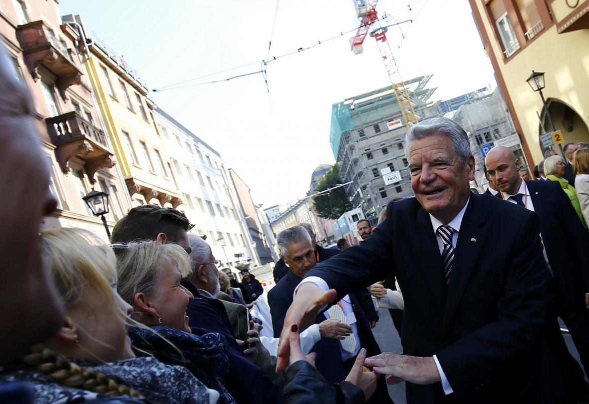 Joachim Gauck ve Frankfurtu