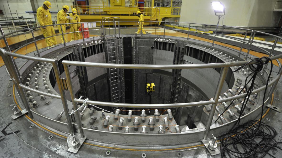 Reaktor prvního bloku dukovanské elektrárny při odstávce