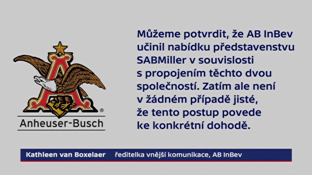 Prohlášení firmy Anheuser-Busch InBev pro ČT