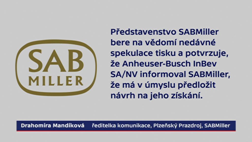 Prohlášení firmy SABMiller pro ČT