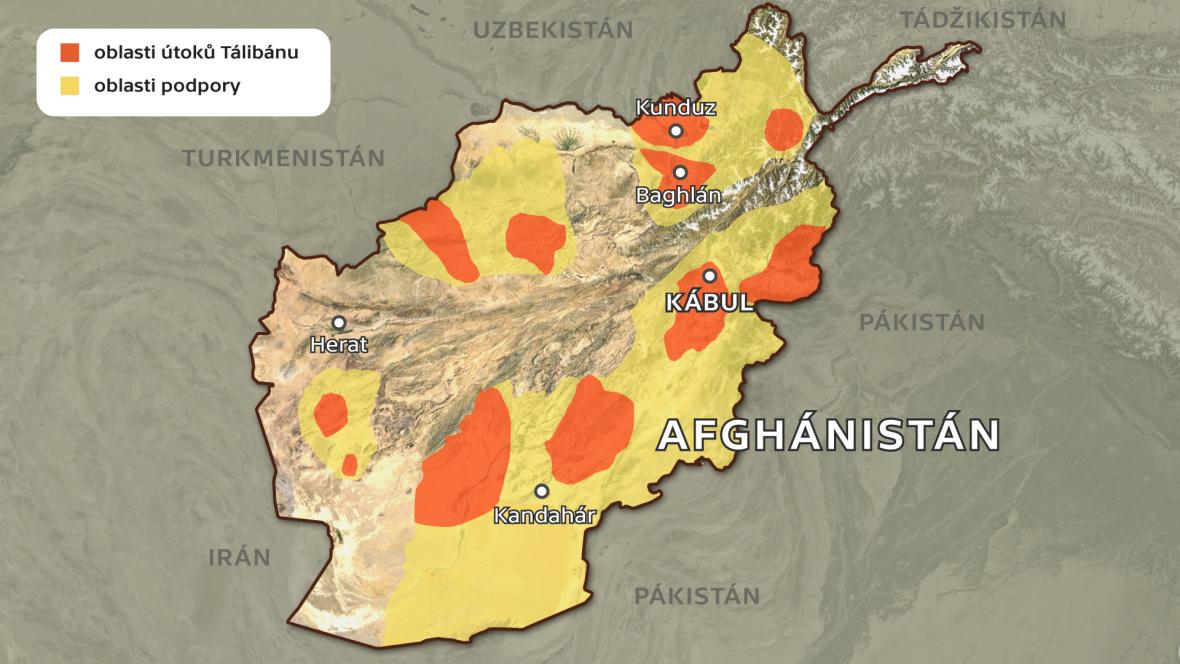 Přítomnost Tálibánu v Afghánistánu