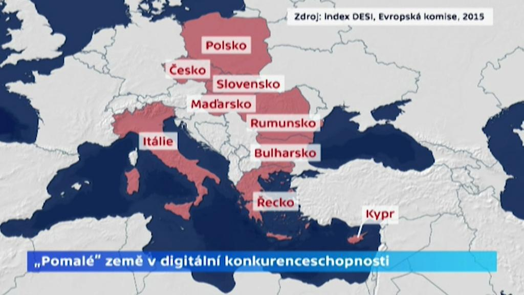 Pomalé země v digitální konkurenceschopnosti