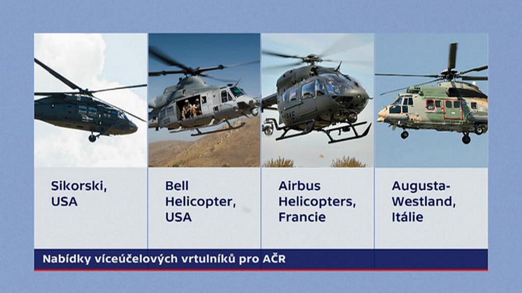 Uchazeči o dodávky vrtulníků