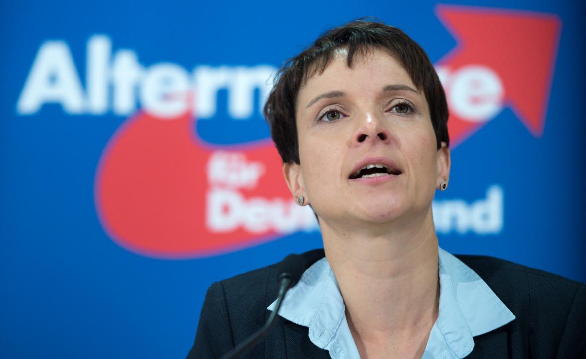 Předsedkyně strany AfD Frauke Petryová
