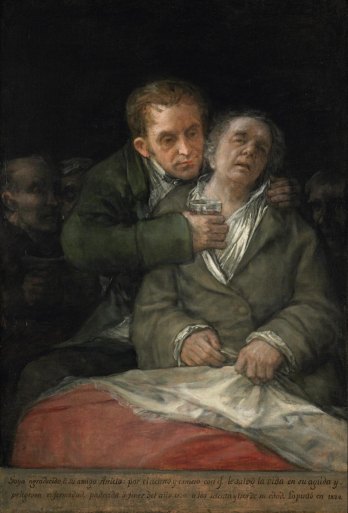Francisco Goya / Autoportrét s lékařem