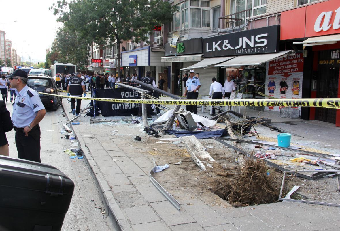 Místo útoku v centru Ankary